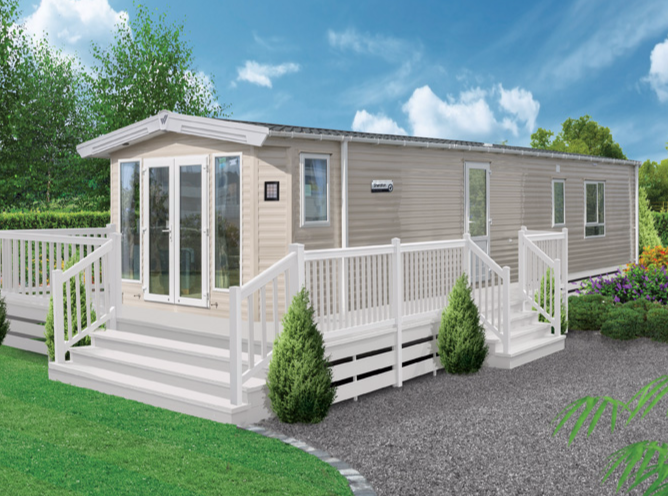 Picture of a Willerby Boston Lodge at Woodlands Holiday Park, Trimingham, Norfolk.