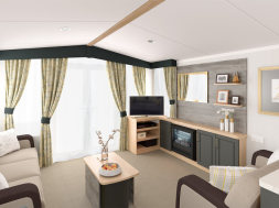 Picture of a 2019 Swift Bordeaux 35 x 12 2 bedroom Holiday Caravan lounge