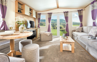 Brochure picture of an ABI 2018 Oakley 28 x 12 2 bedroom holiday home.