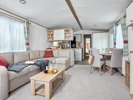 Interior photo of a 2020 ABI Wimbledon 38x12 2 bedroom holiday home.