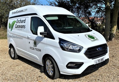 Picture of a 2020 Ford Transit service van